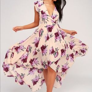 LuLu's  High to Low Maxi Floral dress